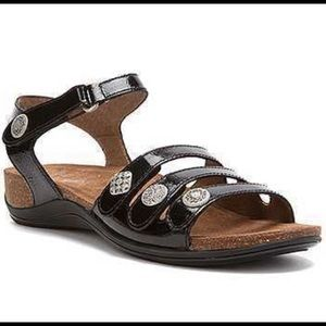 Dansko Patent Leather Jess Sandals